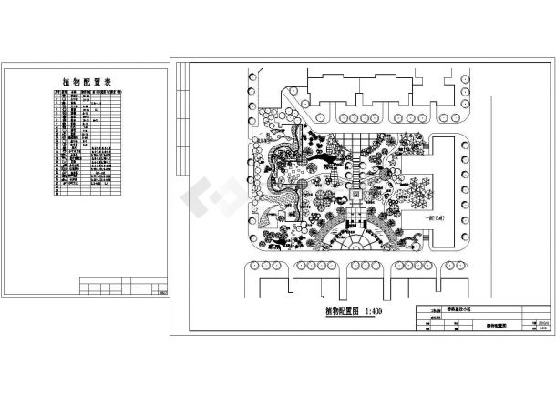 某小区绿化设计cad平面图深圳设计院宝安规划图片