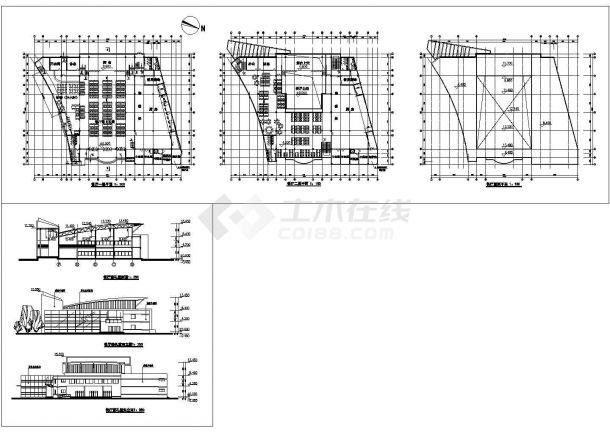 德阳洋河内容一层中学建筑设计cad食堂,共2张模具设计具体图纸图片