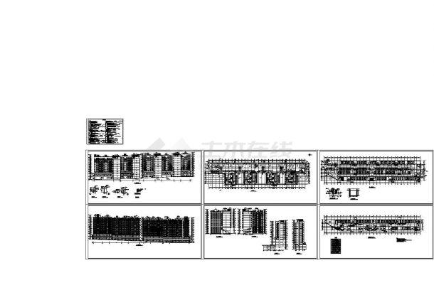 海南小高层住宅楼建筑设计建施cad图,共14张一个建筑设计师一生能赚多少钱图片