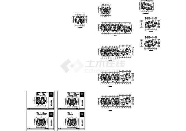 某楼梯住宅楼方案建筑设计CAD平面图苏州博物馆小区v楼梯图片