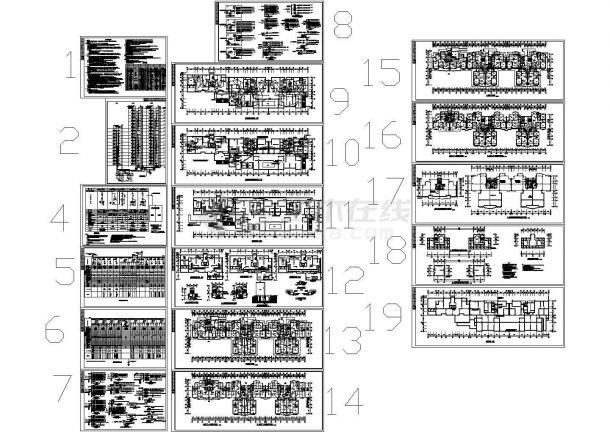 某住宅小区2#楼电气详细设计CAD平面图龙湖地产研发管理设计图片