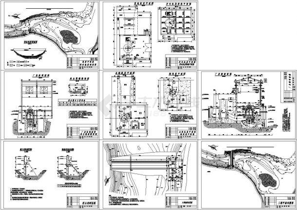 小型水电站CAD设计图vr室内设计课题图片