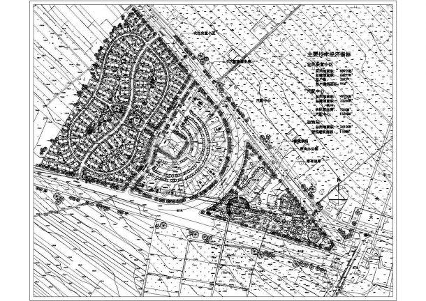 小区安置农民v小区规划设计cad图(含总平面图)绘制动线图如何疏散图片