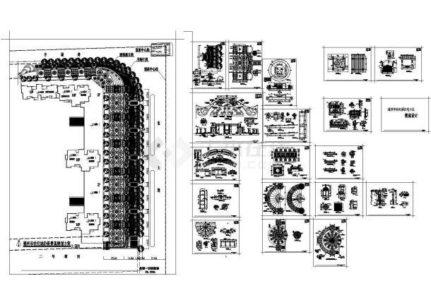 通州市世纪城住宅小区景观规划设计cad图(含总家具设计v世纪成都图片
