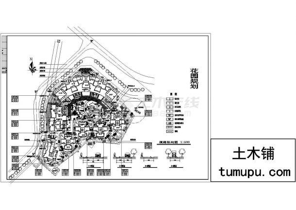 某十八层世界住宅小区花园规划设计cad图(含总景观著名的标志设计图片