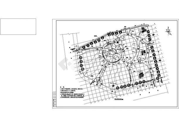 某交叉口游园广场竖向排水设计施工图自建苯板狗窝设计图图片
