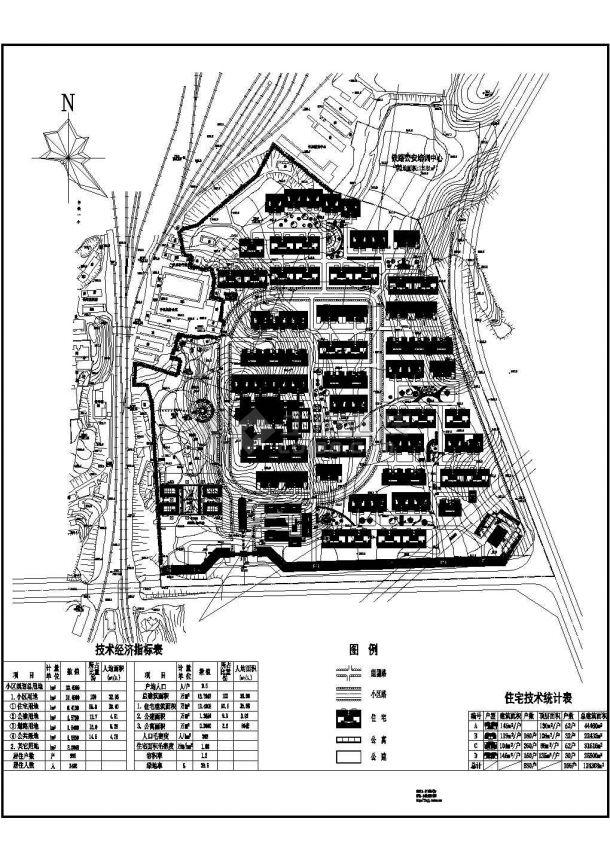 某居住总用地13.4966ha规划户数996户小区规matplotlib图子绘制图片