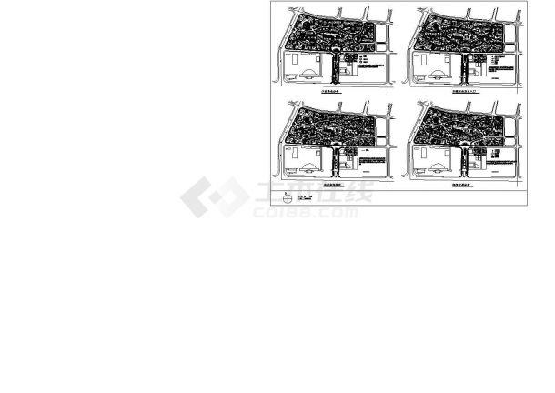 某花园小区总手册规划设计cad设计分析图(含空成大先.机械绿化平面_第三册图片