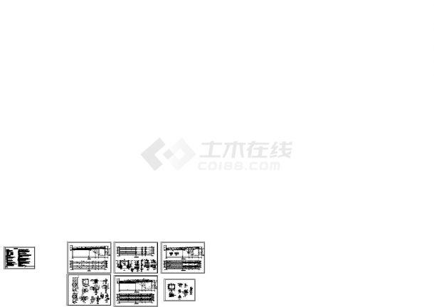 某皮带项目机栈桥钢结构施工图设计(CAD)机械设计819图片