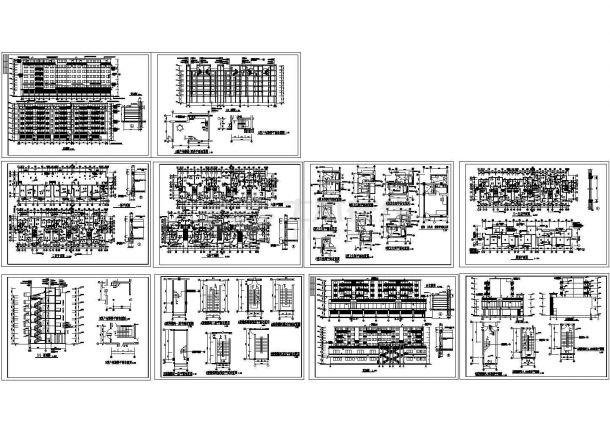 某小区7层经典住宅楼建筑设计CAD施工图(含如何绘制不一样的点图片