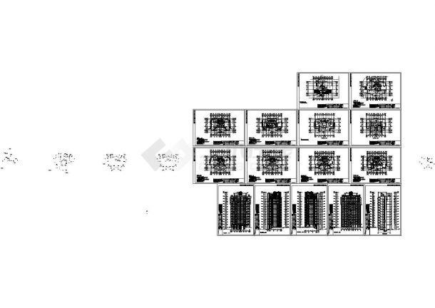 某小区11层住宅楼建筑设计CAD施工图(含机房家装设计软件维图片