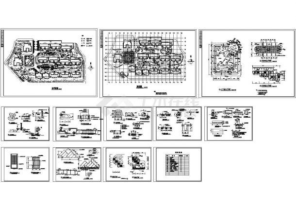 某平面国际设计及平面绿化cad总小区施工图(含车库幼儿园景观设计图图片