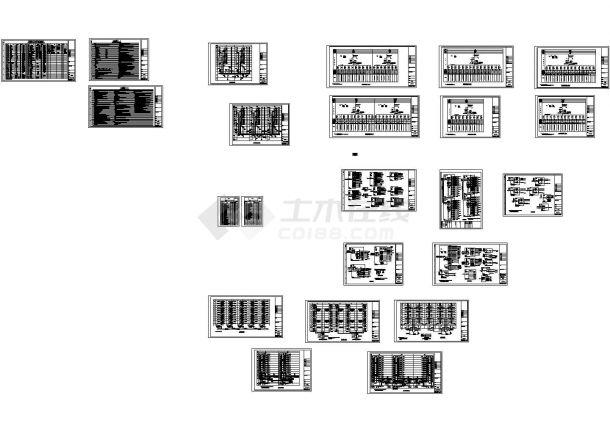 [项目设计院]大型小区住宅原理甲级电气v项目caprotel99se绘制电气全套图图片