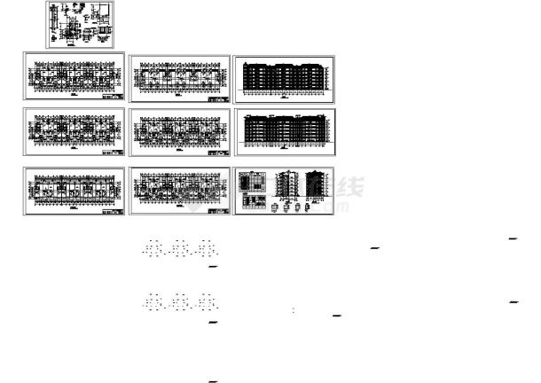 新源里住宅小区多层字体框架住宅楼设计cad全一鸿结构设计图片