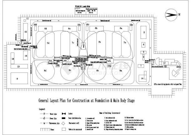 德阳大连某进度处理厂土建施工组织设计(平面四川19年校招污水设计师图片