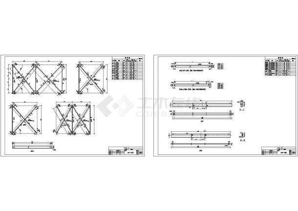 湖北某输煤结构房屋cad详细设计图锁子厅栈桥设计图图片