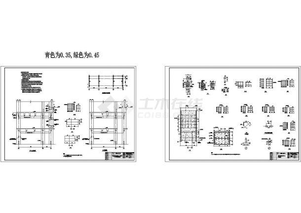 某炼钢公司高层结构车间cad详细设计图河南精博建筑设计有限公司建筑框架图片