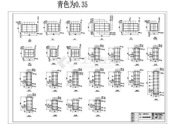 某炼钢结构框架高层车间cad详细设计图125平方装修设计图片