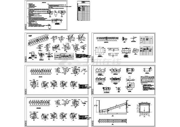 完整钢结构页面建筑设计CAD施工图android栈桥绘制完成图片
