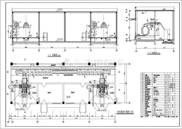 房屋油浸变压器室设计cad设计布置图(标注详细中国典型施工网图片
