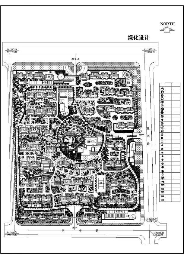 某小区绿化设计cad图(含总平面图)七步洗手法平面设计图片