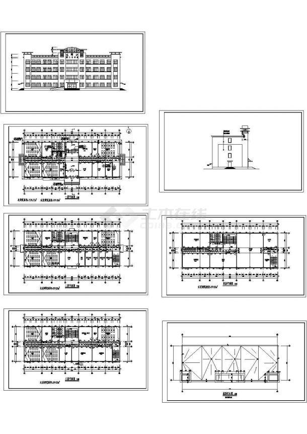 石河子某四层中学框架砂型综合楼建筑设计结构铸造模具设计招聘图片
