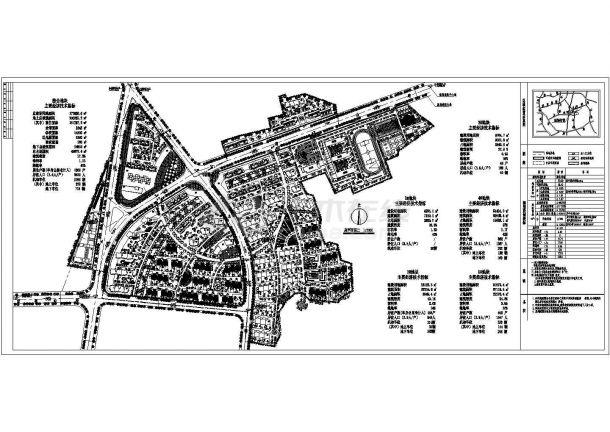 某十一层小区综合楼景观规划设计cad图(含总平天正cad绘制平面图图片