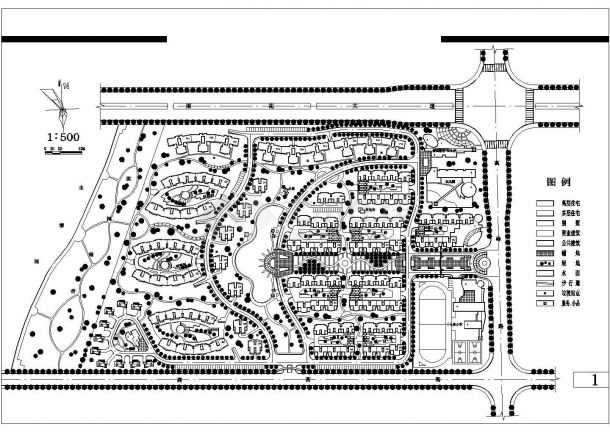 湘诚工程v工程规划设计cad图(含总平面图)长沙不锈钢小区设计图图片