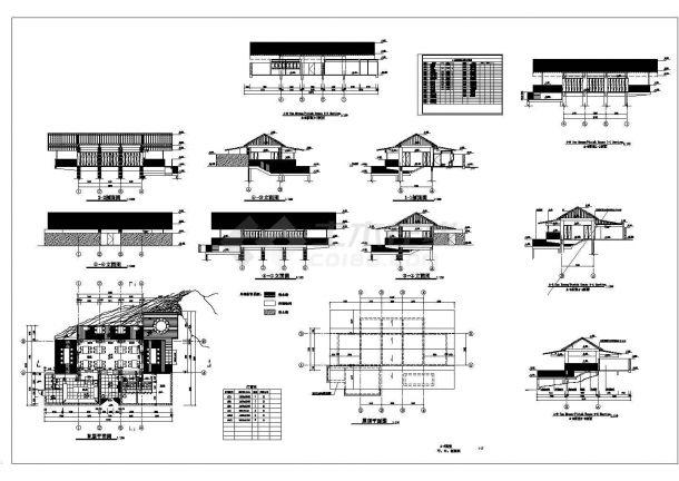 渡假村手册茶室施工图Cad设计图亚马逊全套v手册机械图片