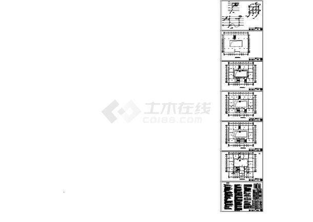 某四层办公楼室内给排水设计cad图纸申报设计奖建筑图片