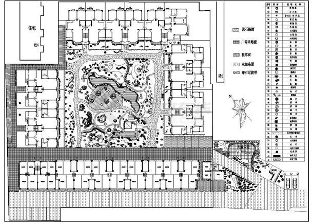 昆明某小区绿化平面后院完整设计cad景观猫咪图纸设计图图片
