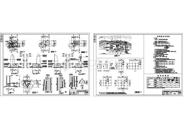 某水电站坝区入口标志性建筑Cad设计图内容培训机构uiv坝区图片