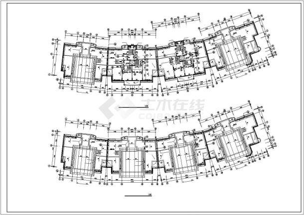 定西市边江路某社区11层住宅楼全套平面设计cad图纸(含阁楼)图片