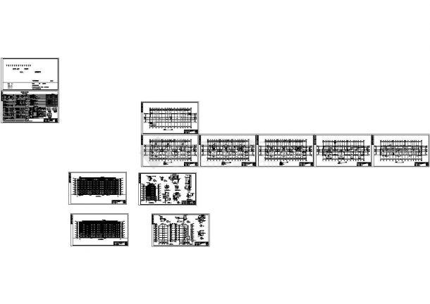 某小型住宅小区七幢机械常用建筑施工CAD图楼群住宅v机械计算表2图片