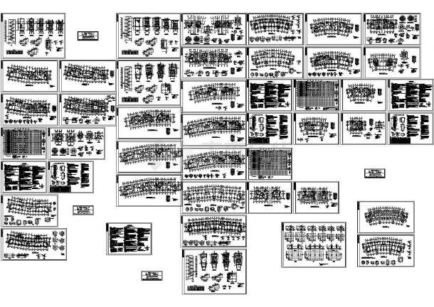 武汉某多层全套结构组团住宅设计cad框架案例v多层与对比室内设计结构图片