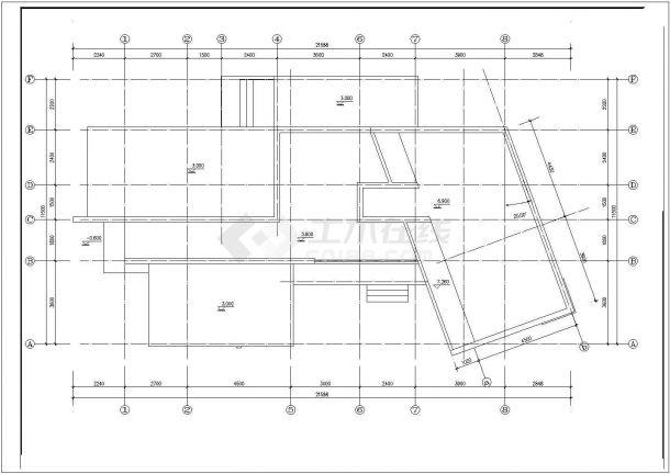 某框架结构二层现代风格私家小别墅设计cad全套建筑施工图(甲级院设计图片