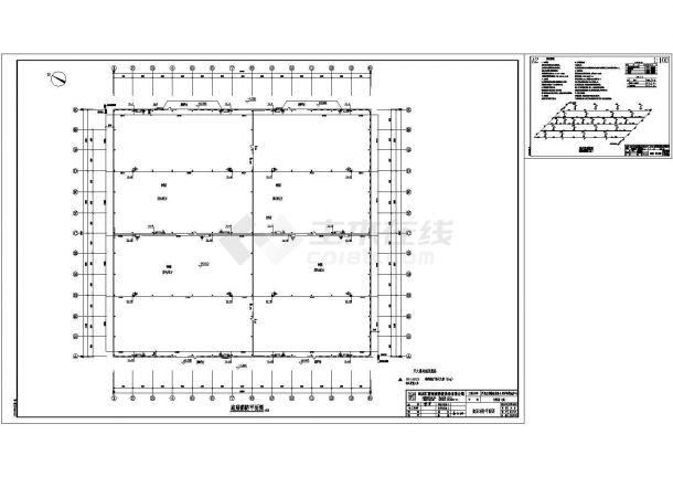 某钢结构房屋水电CAD设计图一楼铺面结构设计图图片