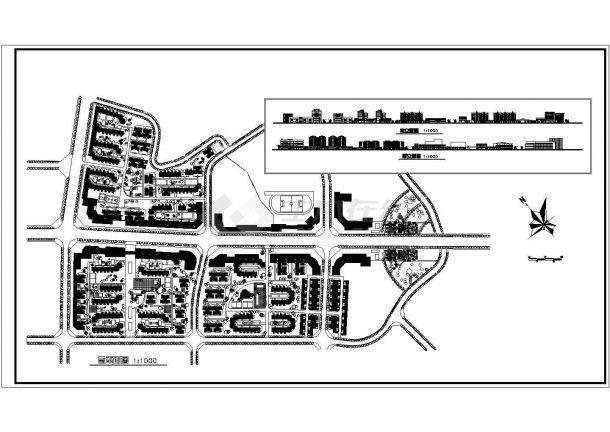 某高档小区规划布置绿化cad总图纸设计常用(标设计字体平面图片