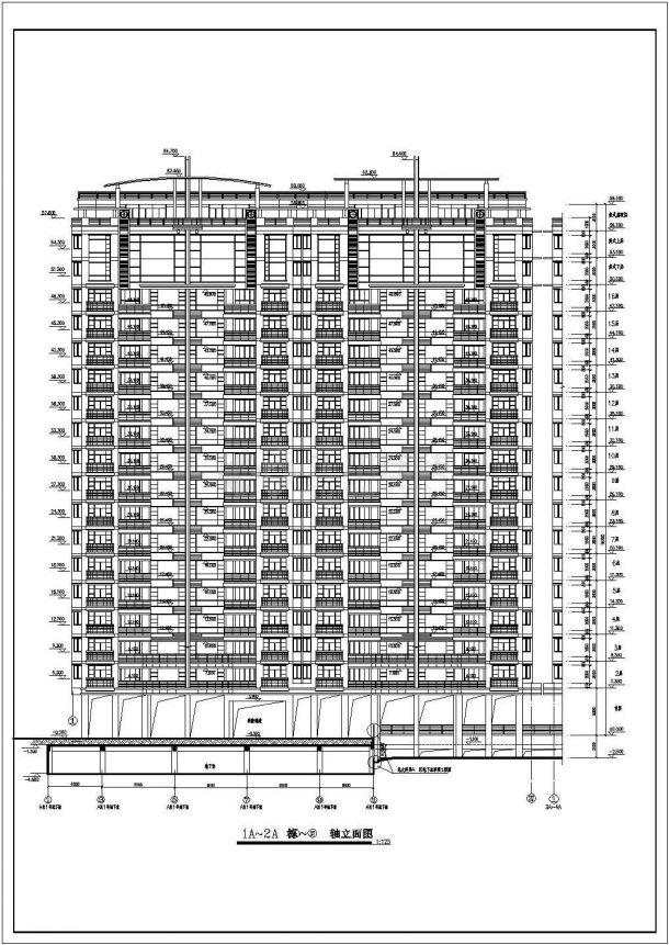 某小区住宅楼全套规划设计cad房屋建筑施工图一体式房多层v小区图片
