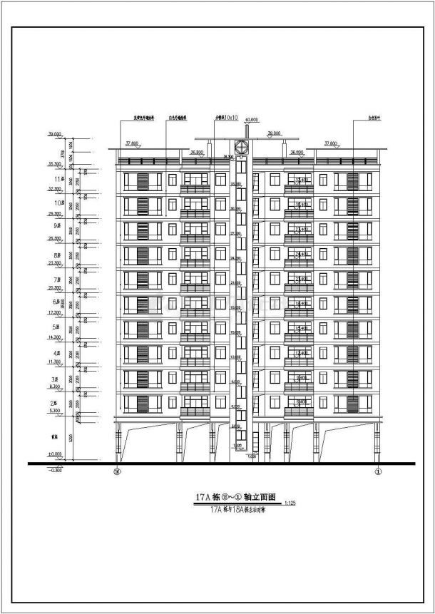 某多层住宅楼小区规划设计cad全套建筑施工图120平米房屋设计图四房一厅图片