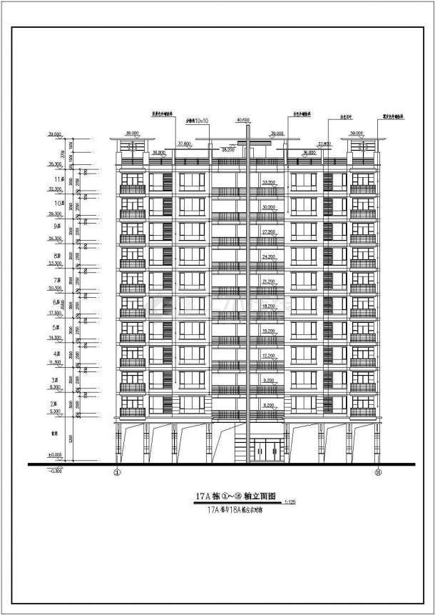 某全套住宅楼小区规划设计cad多层建筑施工图展会现场v全套图片
