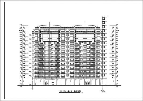某多层住宅楼理念规划设计cad全套建筑施工图团队小区名片设计图片