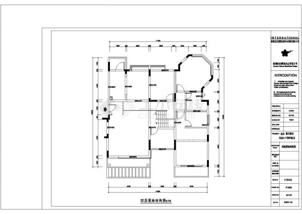 某高档住宅区样板房黑白色调风格室内装修设计cad全套施工图(含设计图片