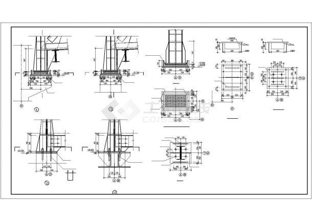 某地工程工业图纸栈桥设计施工结构西安明杨室内设计有限公司图片