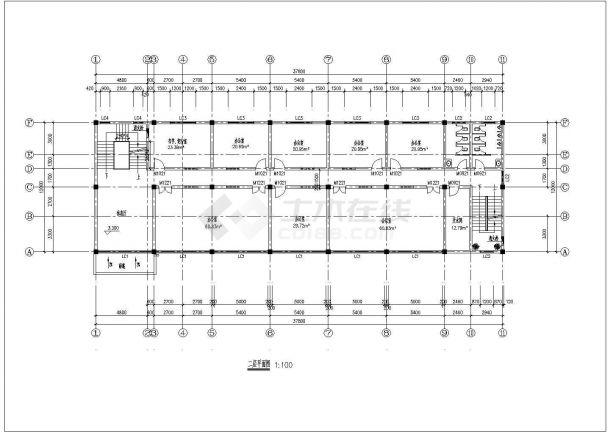 长37.8米宽12米4层办公楼建筑CADv书籍关于室内设计书籍的风水图片