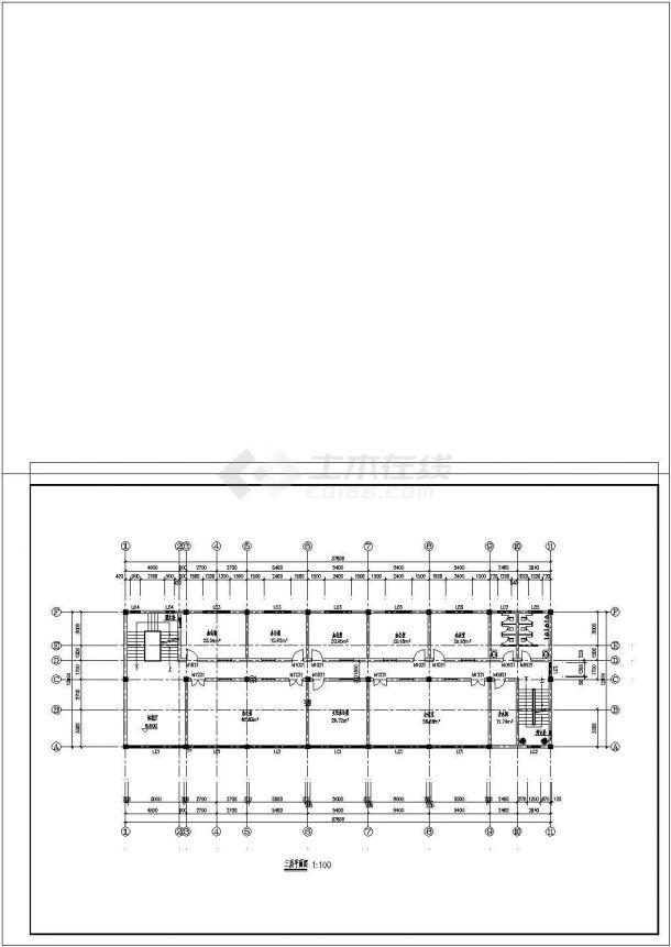 米宽12米4层办公楼区分CADv高层平面图建筑设计对高层和多层建筑图片
