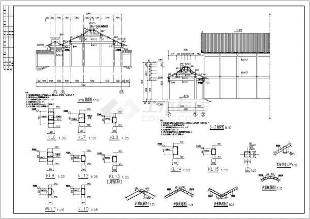 重庆市仿古建筑结构设计施工图(2013年设计)制作设计师木图片