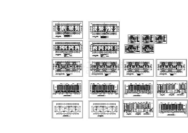 大型住宅小区多层住宅楼装修设计建施cad字体合好看的图纸v多层图片