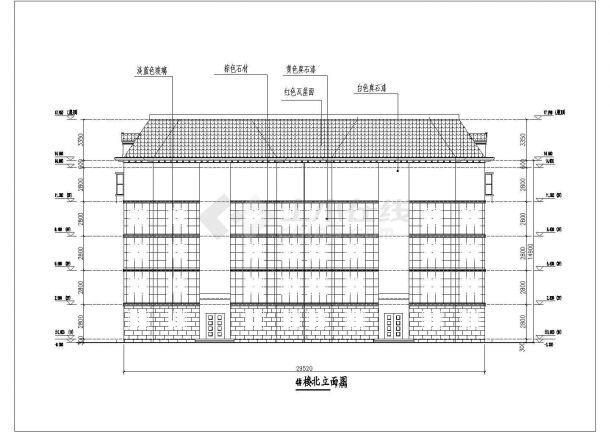 两套四层框架图纸住宅楼建筑设计方案结构磷化v框架池图片