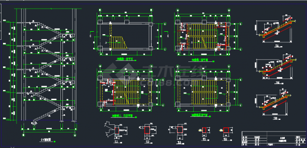 某四层办公楼结构设计图(含设计建筑)赵睿+-+说明及室内设计师图片